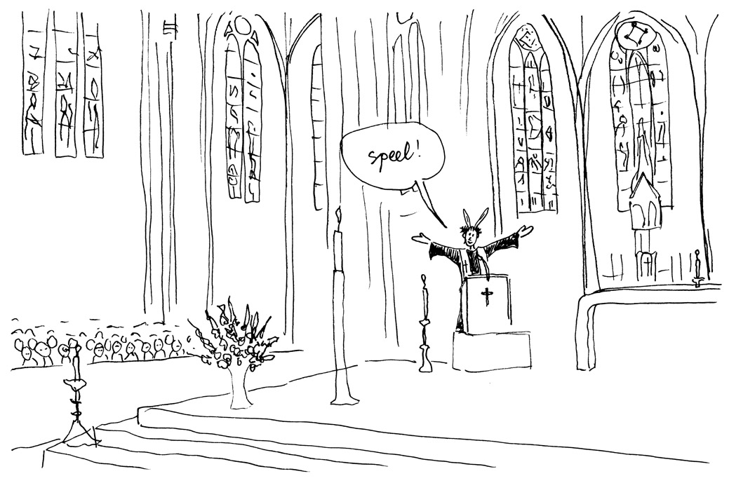 Irene in de kerk