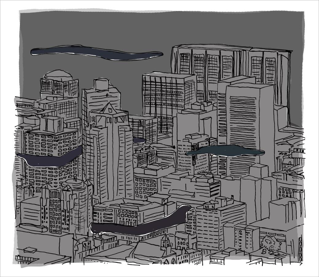 De stad, 's nachts