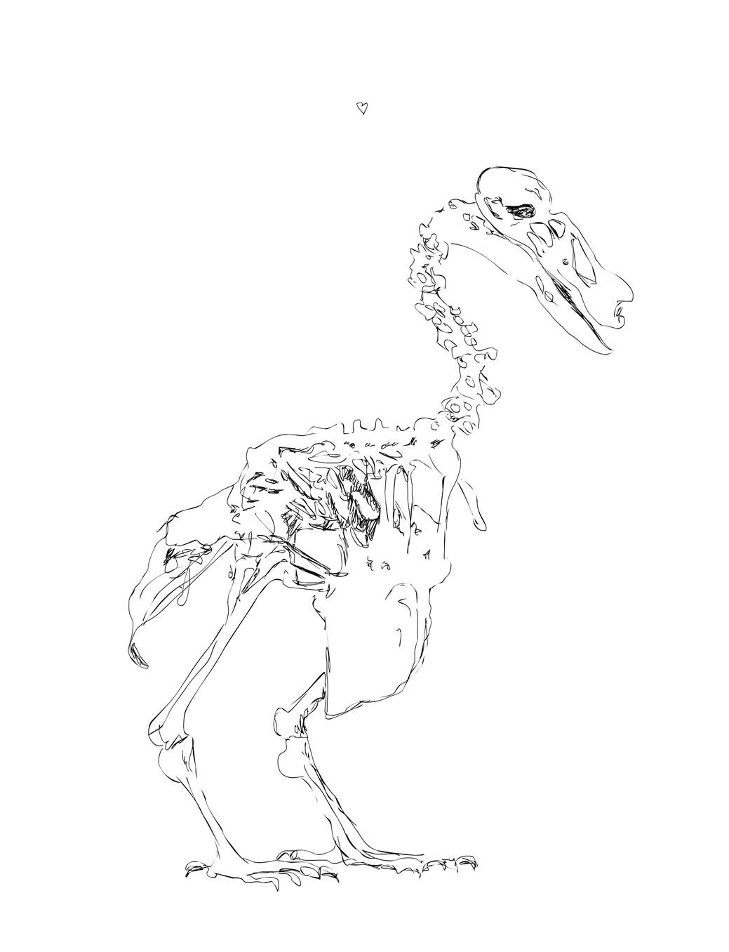 irene-cecile-spuuggeluidjes-maken-dodo-skelet