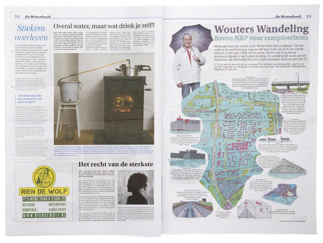 """""""De Waterland"""" bezorgd in 23000 huizen in Amsterdam Noord"""